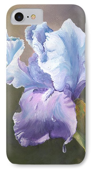 IPhone Case featuring the painting Iris Tears by Sherry Shipley