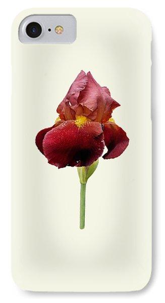 Iris Vitafire Cream Background IPhone Case