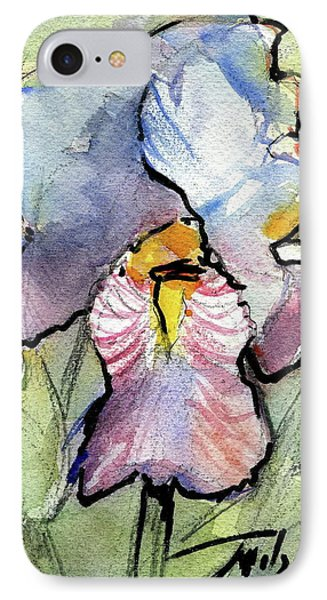 Iris With Impact Phone Case by Ron Wilson