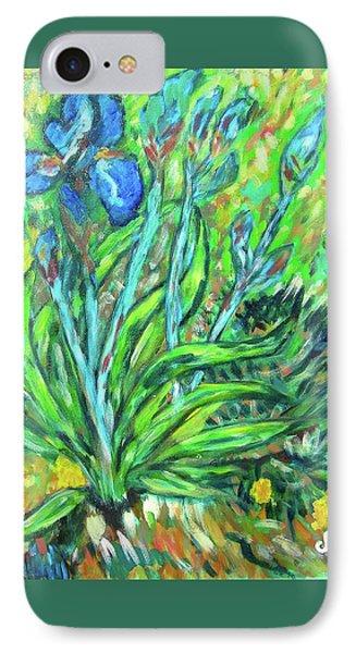 Irises Ala Van Gogh Phone Case by Carolyn Donnell