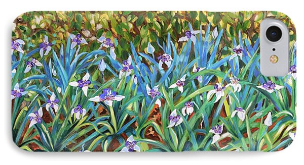 Irises IPhone Case by Caroline Street