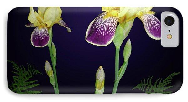 Irises In The Night Garden Phone Case by Tara Hutton