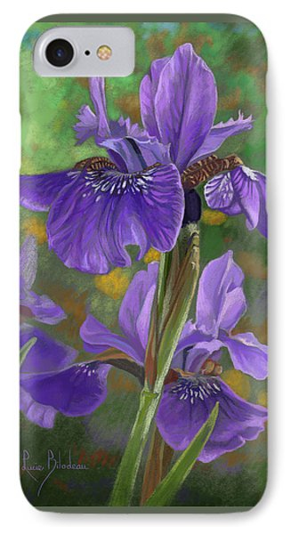 Irises IPhone Case by Lucie Bilodeau
