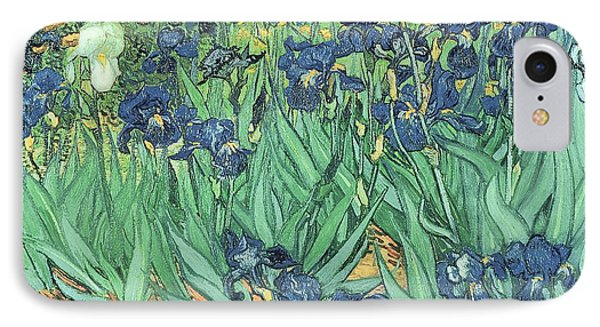 Flowers iPhone 7 Case - Irises by Vincent Van Gogh