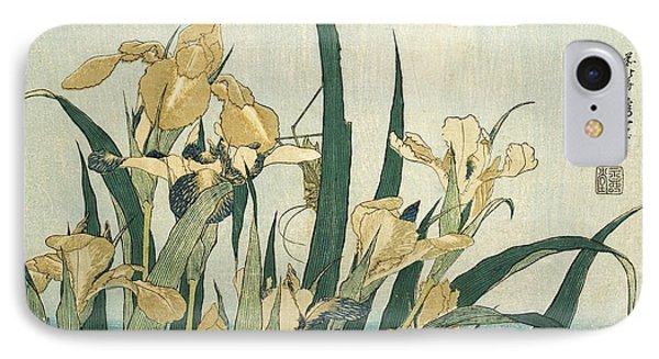 Irises With A Grasshopper IPhone 7 Case
