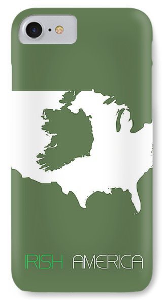 Irish America Poster IPhone Case by Naxart Studio