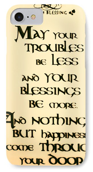 Irish Blessing Phone Case by Bill Cannon