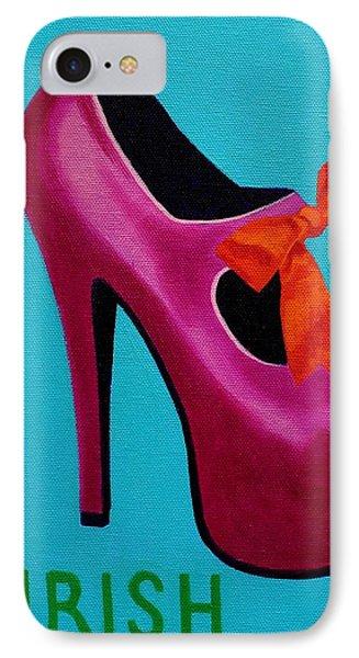 Irish Burlesque Shoe    IPhone Case by John  Nolan