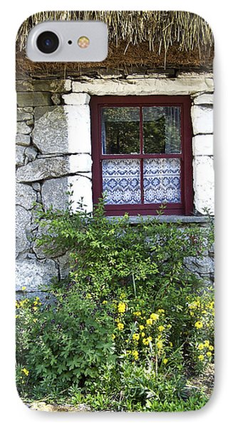 Irish Cottage Window County Clare Ireland Phone Case by Teresa Mucha
