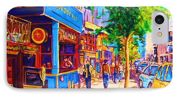 Irish Pub On Crescent Street IPhone Case by Carole Spandau
