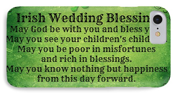 Irish Wedding Blessing IPhone Case by Mindy Bench