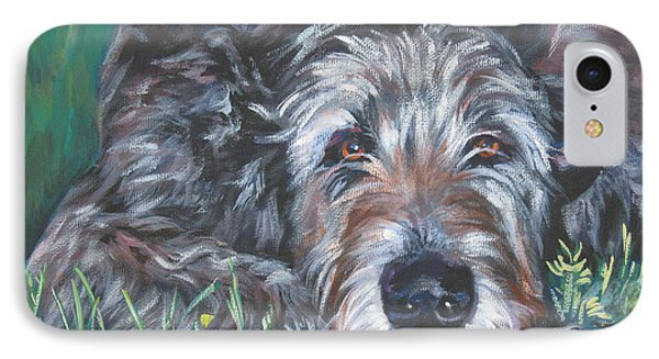 Irish Wolfhound Phone Case by Lee Ann Shepard