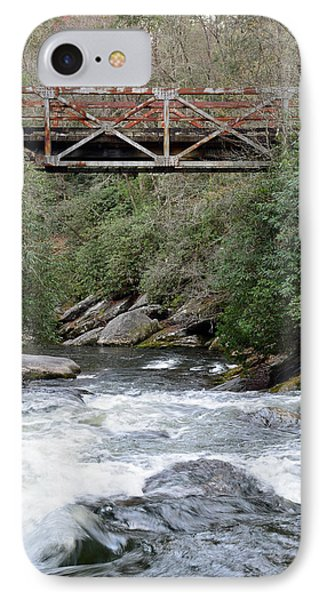 Iron Bridge Over Chattooga River IPhone Case by Bruce Gourley