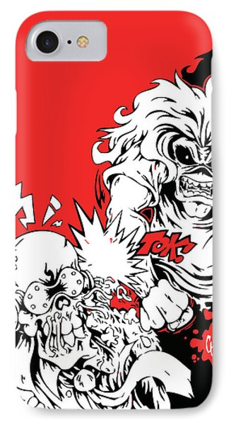 Iron Maiden Vs Megadeth IPhone Case by Caio Caldas