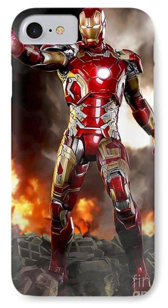 Iron Man - No Battle Damage IPhone Case by Paul Tagliamonte