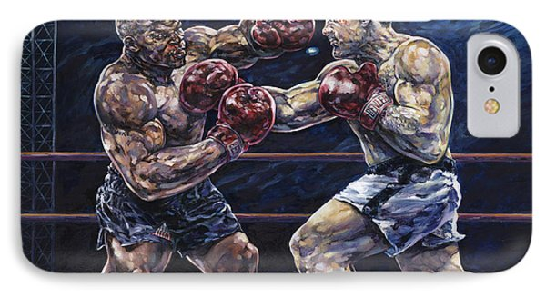 Iron Mike Vs. Rocky IPhone Case by Dennis Goff