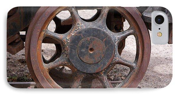 IPhone Case featuring the photograph Iron Train Wheel by Aidan Moran