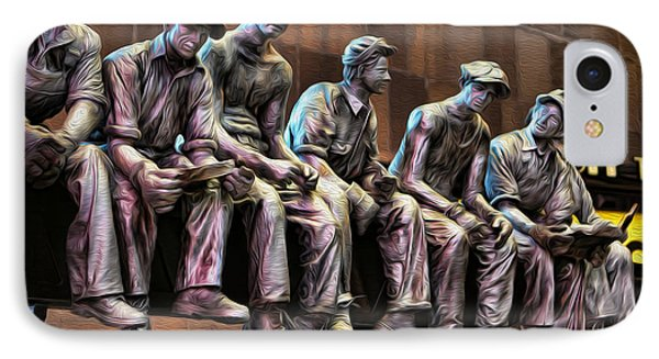 Ironworkers Having Lunch II IPhone Case by Lee Dos Santos