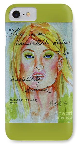 IPhone Case featuring the painting Irresistible by P J Lewis