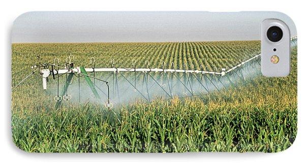 Irrigated Corn Crop IPhone Case by Inga Spence