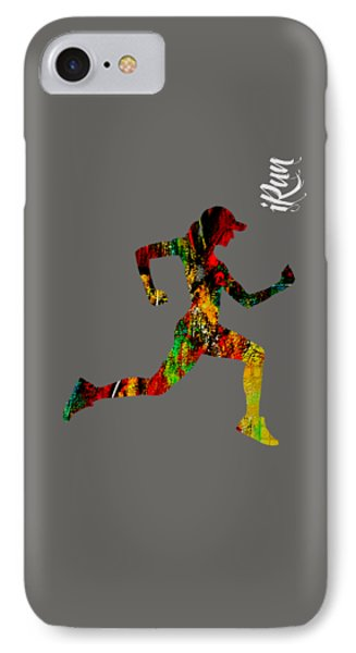 iRun Fitness Collection IPhone Case by Marvin Blaine