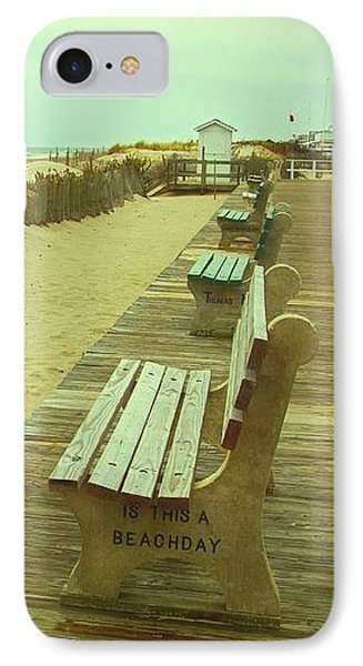 Is This A Beach Day - Jersey Shore IPhone Case by Angie Tirado