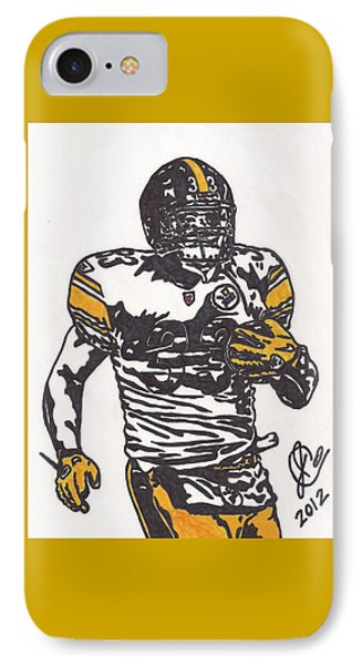 IPhone Case featuring the drawing Isaac Redman by Jeremiah Colley