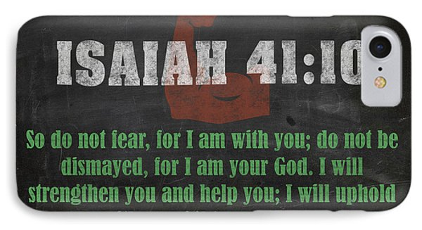 Isaiah 41 10 Inspirational Quote Bible Verses On Chalkboard Art IPhone Case