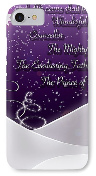 Isaiah Chapter 9 Verse 6 Christmas Card Phone Case by Lisa Knechtel