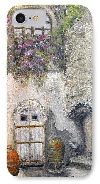 IPhone Case featuring the painting Ischia Courtyard by Sandra Nardone