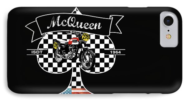 Isdt Triumph Steve Mcqueen IPhone Case by Mark Rogan