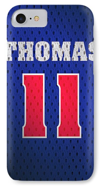 Isiah Thomas Detroit Pistons Number 11 Retro Vintage Jersey Closeup Graphic Design IPhone Case