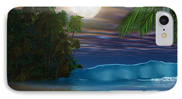Island Beach Phone Case by Corey Ford