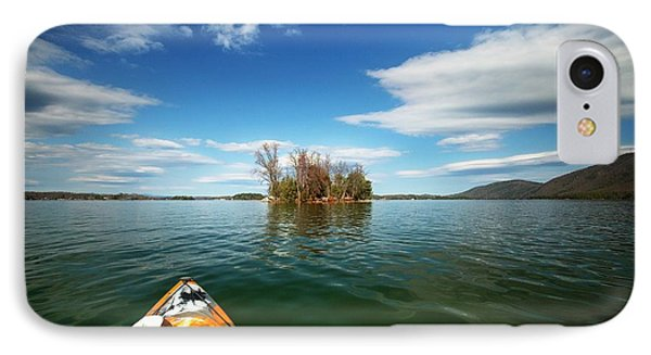 IPhone Case featuring the photograph Island Destination by Alan Raasch