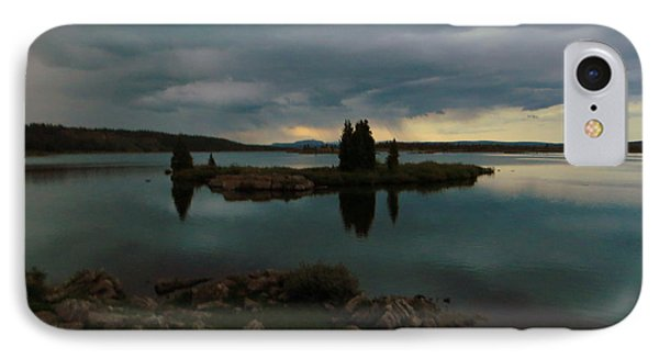 IPhone 7 Case featuring the photograph Island In The Storm by Karen Shackles