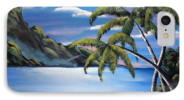 Island Night Glow IPhone Case by Luis F Rodriguez