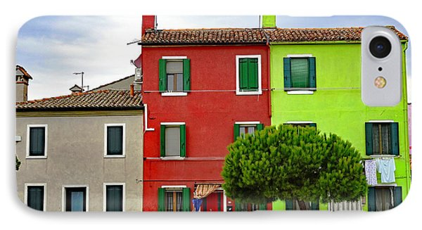 Island Of Burano Tranquility IPhone Case by Richard Rosenshein