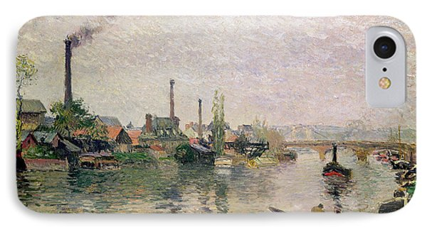 Island Of The Cross At Rouen Phone Case by Camille Pissarro