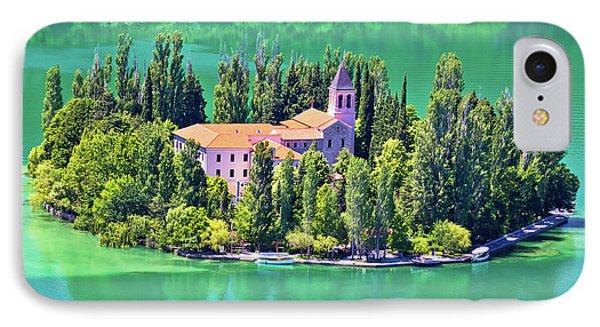 Island Of Visovac Monastery In Krka  IPhone Case