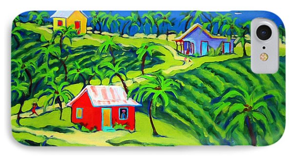 Island Time - Colorful Houses Caribbean Cottages IPhone Case by Rebecca Korpita