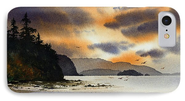 IPhone Case featuring the painting Islands Autumn Sky by James Williamson