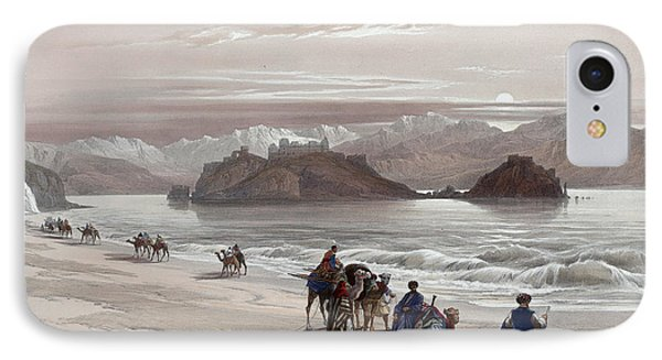 Isle Of Graia Gulf Of Akabah Arabia Petraea Feby 27th 1839 Phone Case by Munir Alawi