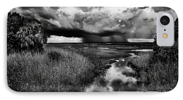 Isolated Shower - Bw IPhone Case by Christopher Holmes