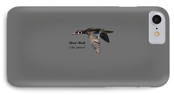 Isolated Wood Duck 2017-1 IPhone Case by Thomas Young