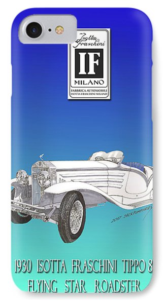 Isotta Fraschini Type 8 Flying Star Roadster IPhone Case by Jack Pumphrey