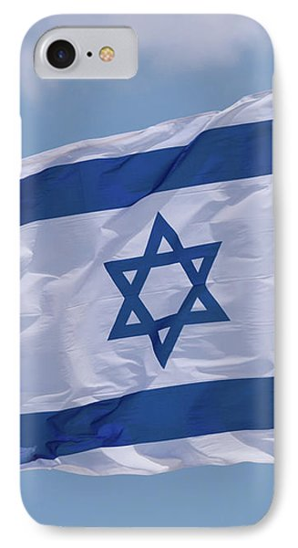 Israeli Flag In The Wind IPhone Case