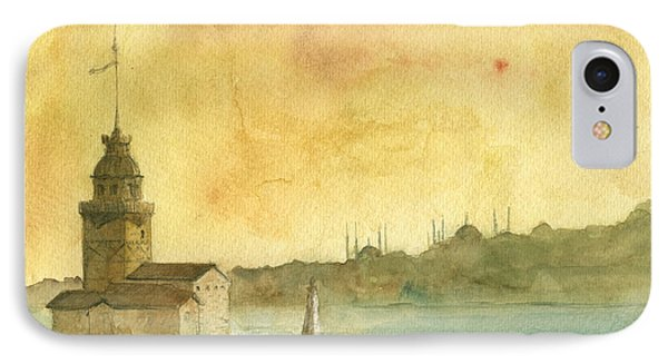 Istanbul Maiden Tower IPhone Case by Juan Bosco