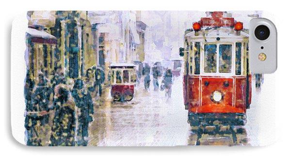 Istanbul Nostalgic Tramway IPhone Case by Marian Voicu
