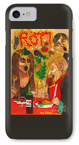 It Happened In A Restaurant IPhone Case by Don Pedro De Gracia