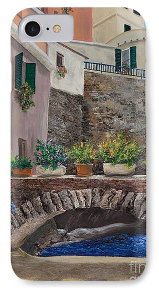 Italian Arched Bridge With Flower Pots Phone Case by Charlotte Blanchard